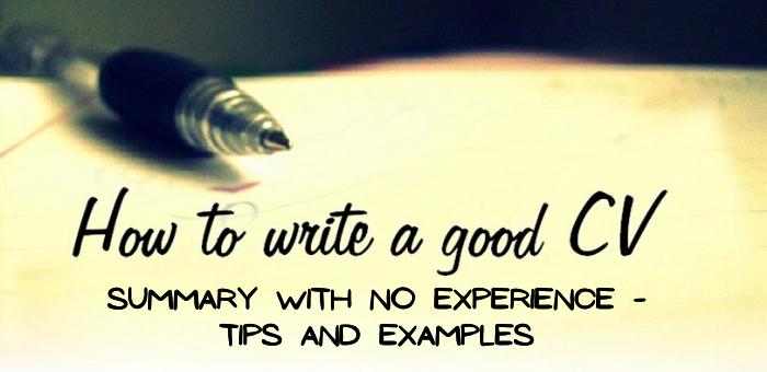 How to Write a Good CV Summary